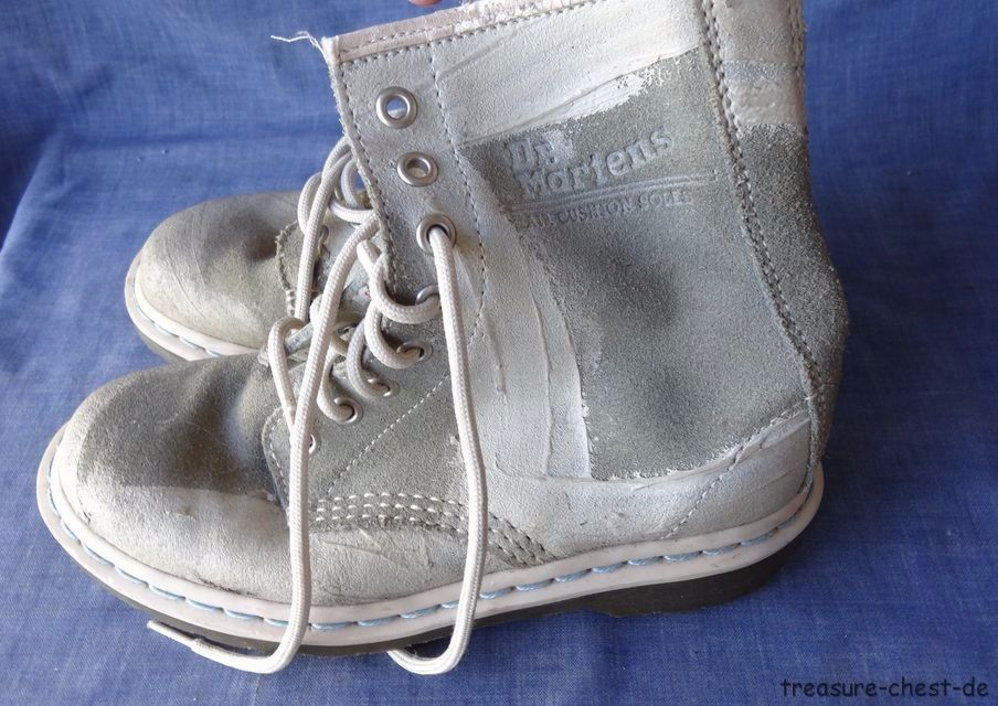 Suede & Paint Dr Martens 1460 8 Hole Boots, Size 36 (UK 3, US L 5, US M4) TOP! in  | eBay!