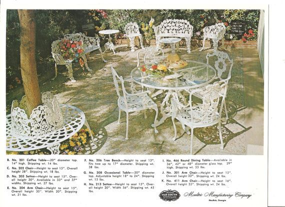 1960s Patio Table And Chairs Retro Outdoor Furniture Picture Moultrie Advertising Card