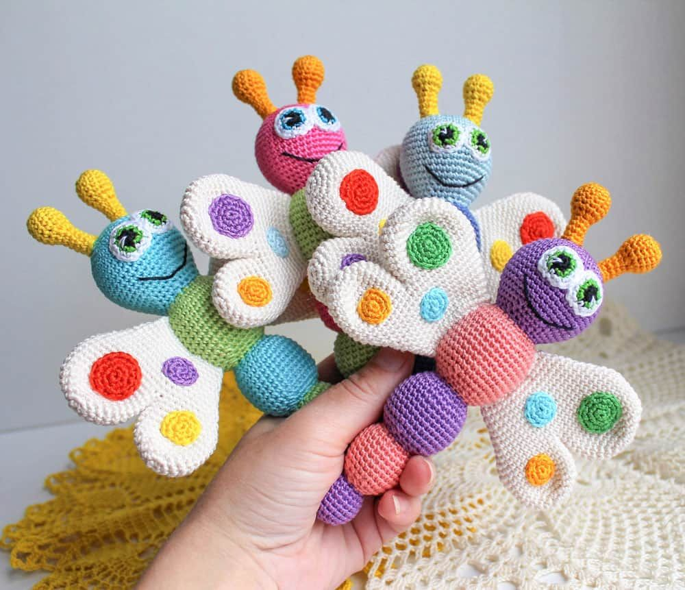 Butterfly Baby Rattle Crochet Pattern on Amigurumi Today   Crafts ...