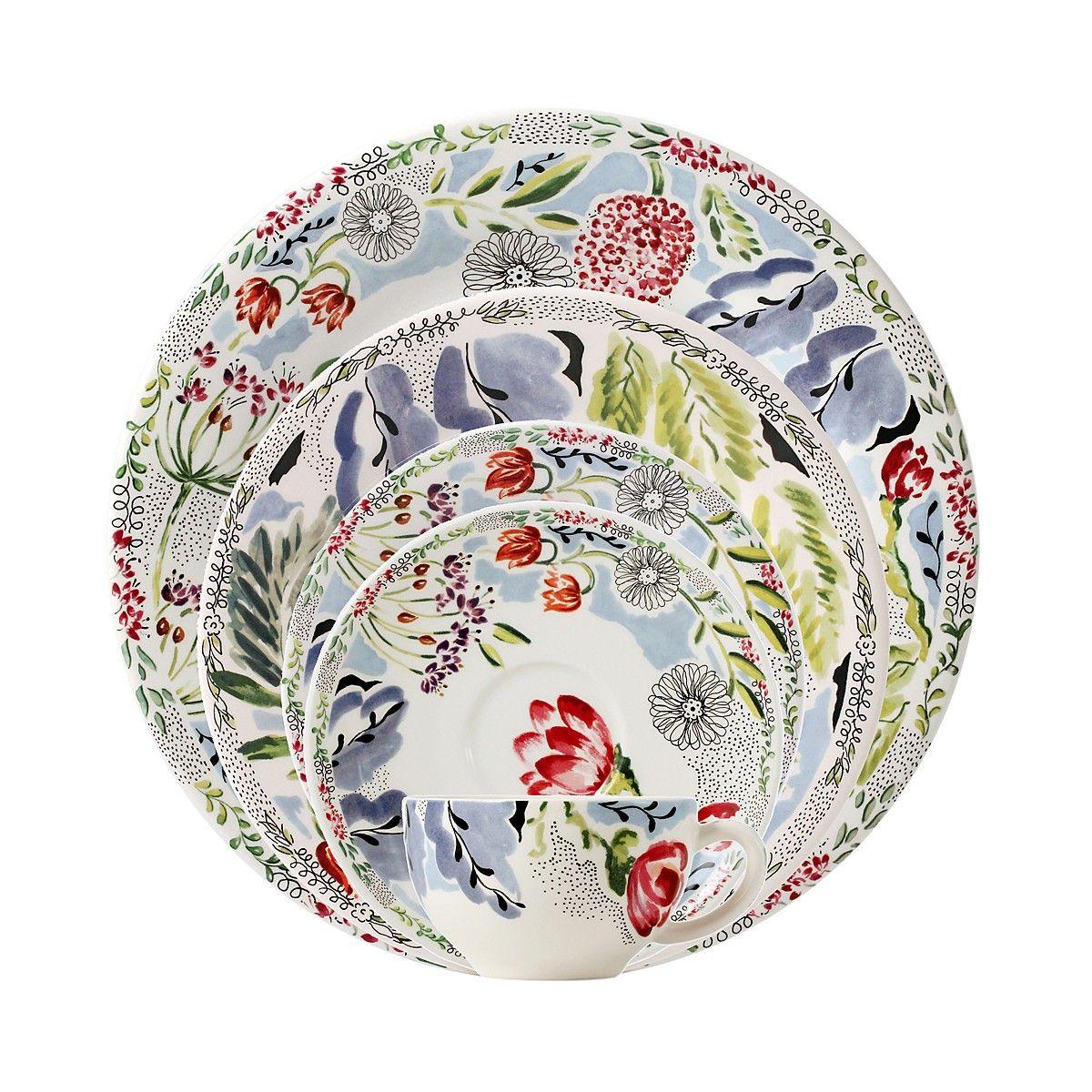 Gien France Flora Dinnerware Bloomingdale S With Images Gien