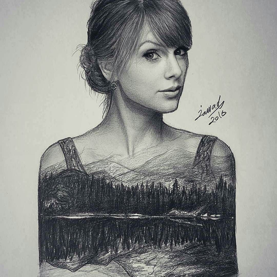 Repost from @jawadalghezi ・・・ Drawing for @taylorswift Done ...