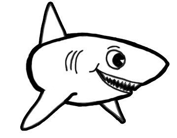 How to Draw Sharks with Cartoon Shark Drawing Lesson | Shark ...