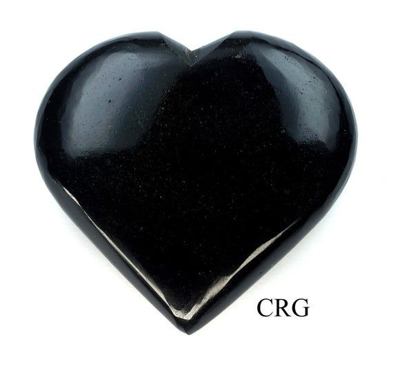 Black Agate Gemstone Puffy Heart From INDIA100% Natural, hand-carved gemstone heart. Size: approximately 2