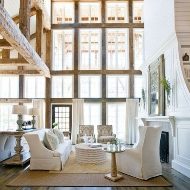 Charming rustic living room