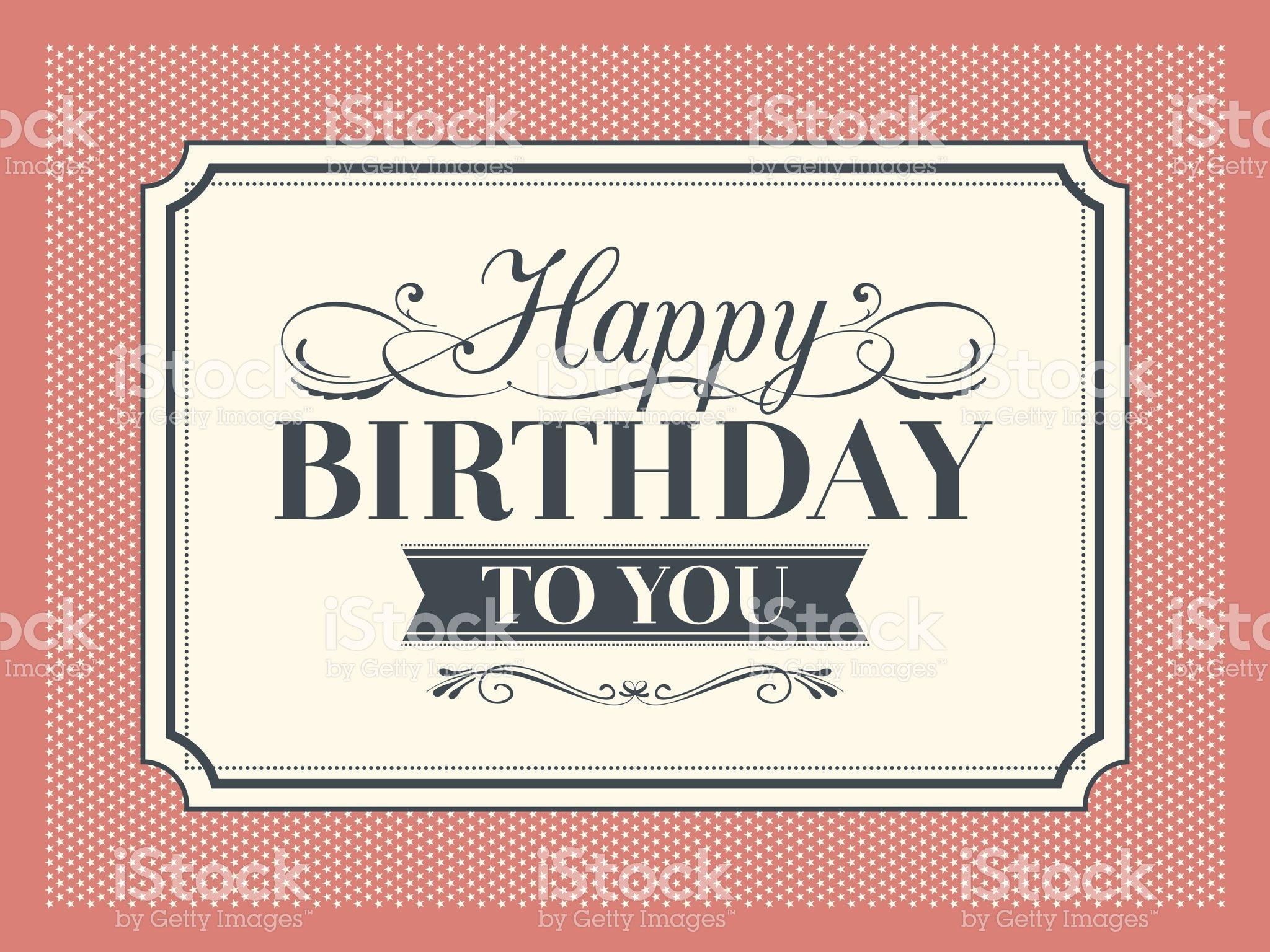 Marco Vintage con diseño de plantilla de tarjeta de cumpleaños ...