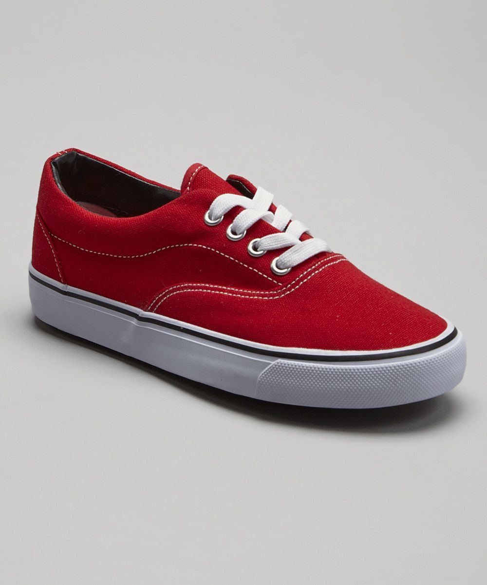 Look at this Red Classic Low Sneaker on #zulily today!