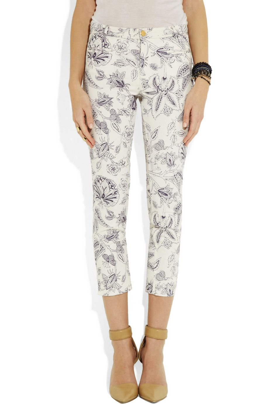 Isabel Marant|Lucas printed cropped skinny jeans|