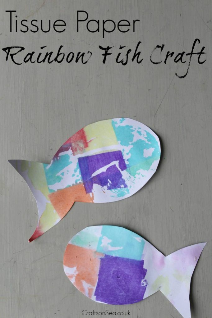 Tissue Paper Rainbow Fish Craft Crafts And Activities For Kids