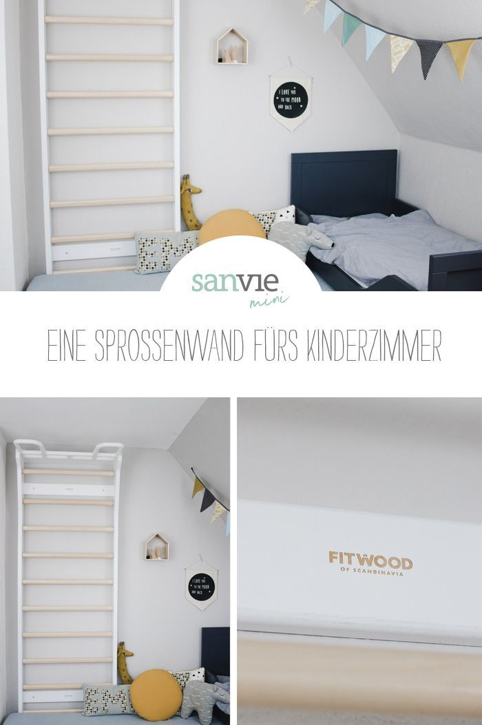 Photo of Eine Sprossenwand fürs Kinderzimmer – sanvie