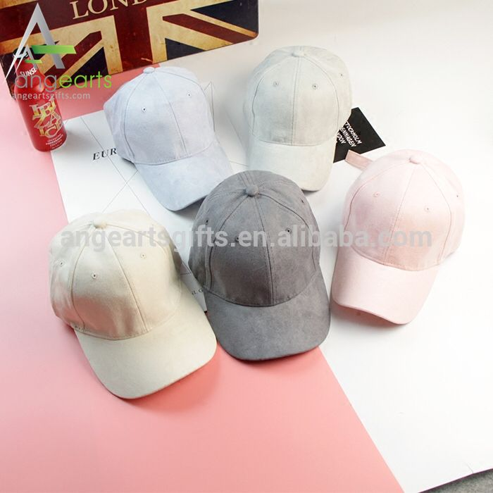 d3b90a88f6082 2017 New design embroidery fashion suede dad hat Custom your own design 6  panel suede baseball Cap