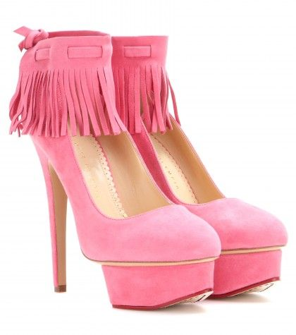 Love these shoes by CHARLOTTE OLYMPIA Sundance Dolly Suede Pumps - $1079