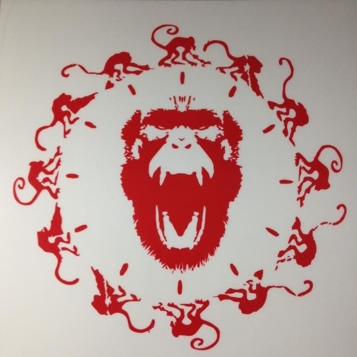 12 Monkeys Window Cling Giveaway Critical Blast In 2020 Art Logo 12 Monkeys Monkey Logo