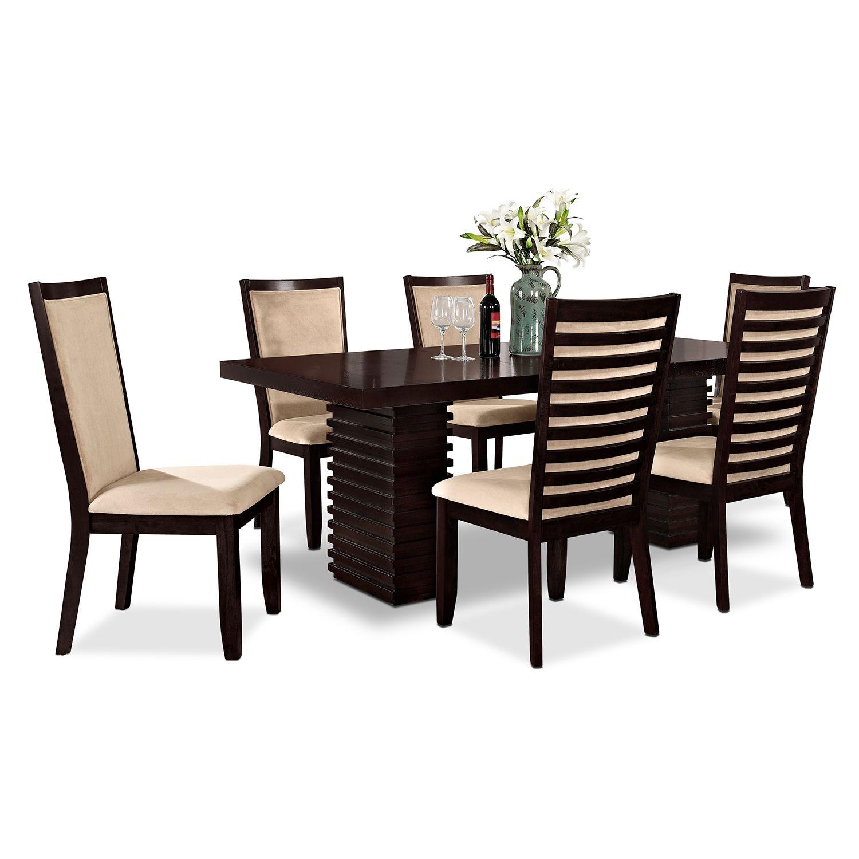 Dining Room Furniture  Paragon 7 Pcdinette  Inspiration For Custom Value City Kitchen Sets Design Inspiration