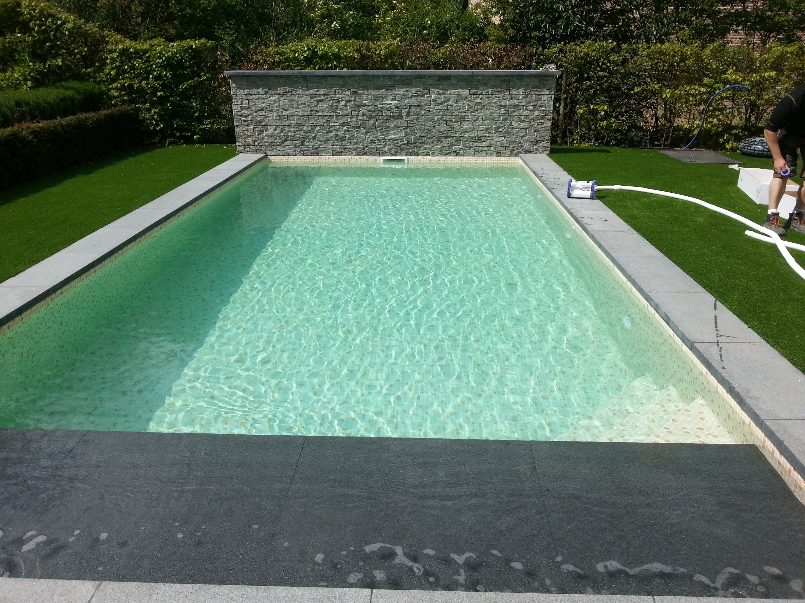 Zwembad met elbe mosaic terracotte zwembaden jr pools pinterest swimming pools and pool water - Witte pool liner ...