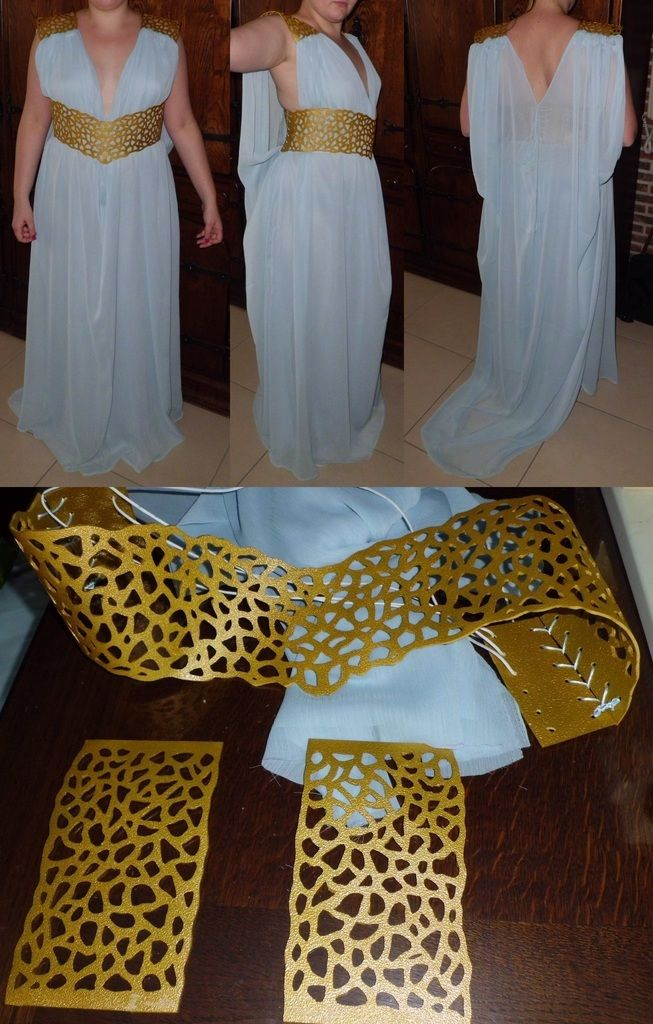 projet daenerys robe de khaleesi daenerys project khaleesi 39 s dress carnavales maquillaje. Black Bedroom Furniture Sets. Home Design Ideas