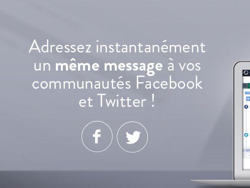 Adressez instantanément un même message  à vos communautés #Facebook et #Twitter ! #socialmedia #communitymanager #communitymanagement #CM
