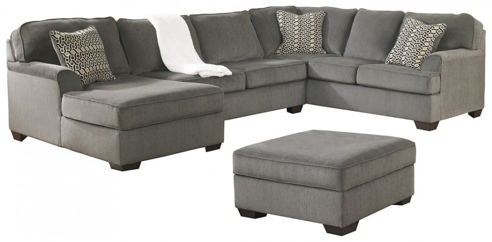 Sectional With Ottoman, L Fish Furniture Indianapolis
