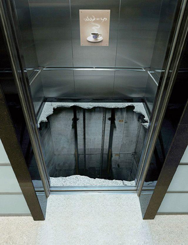 coffeeelevator11 18 Creative Elevator Advertisements soms is de lift gewoon sneller