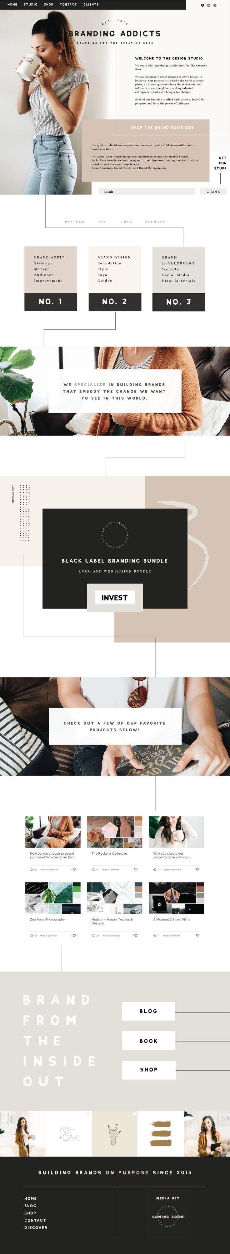 Warm Cozy Trendy Subtle Stylish Web Design Created For Branding Addicts Brand Designer Website Wix Tau Web Design Logo Web Layout Design Branding Design