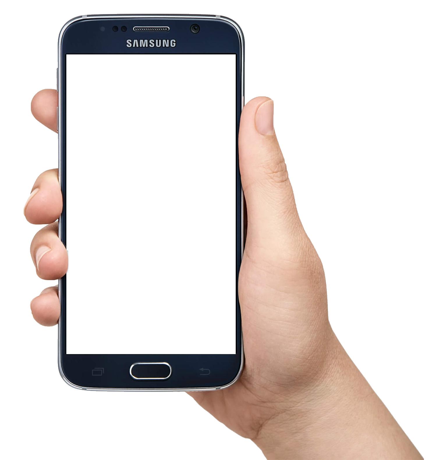Hand Holding Smartphone Png Image Template Gambar Desain Logo