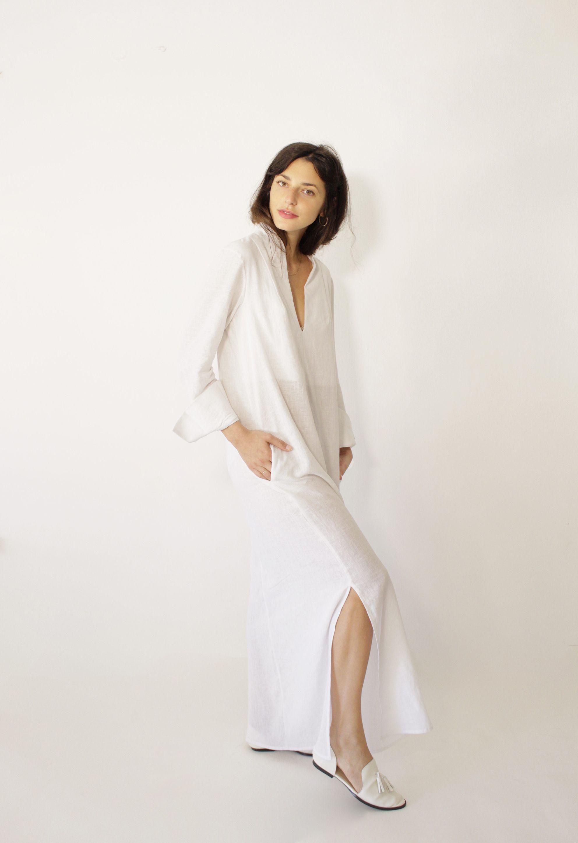 White Linen Plus Size Wedding Dresses | www.topsimages.com