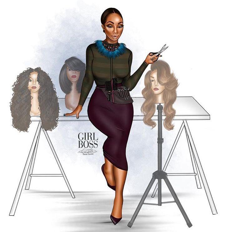 e57d9b1c12d1 Girl Woman Boss Black Girl Art