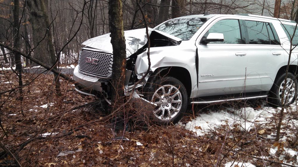 Icy Roads cause Woman to Crash Vehicle in Montcalm County