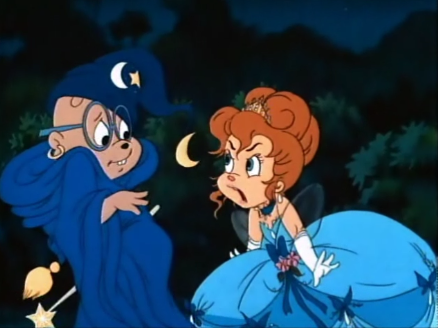 "From: The ""Pretty"" One  Oh the classic Chipmunks, brings back memories! Nothing better than Cinderella Brittany yelling at fairy godfather Simon. ^-^"