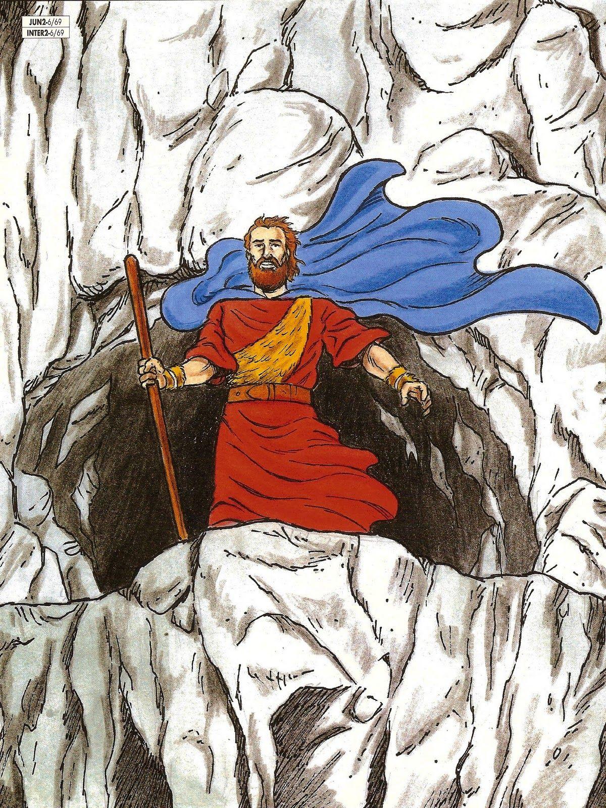 Ao que Deus lhe disse: Vem cá fora, e põe-te no monte perante o Senhor: E eis que o Senhor passou; e um grande e forte vento fendia os montes e despedaçava as penhas diante do Senhor, porém o Senhor não estava no vento; e depois do vento um terremoto, porém o Senhor não estava no terremoto; e depois do terremoto um fogo, porém o Senhor não estava no fogo; e ainda depois do fogo uma voz mansa e delicada. (I REIS 19.11-12)
