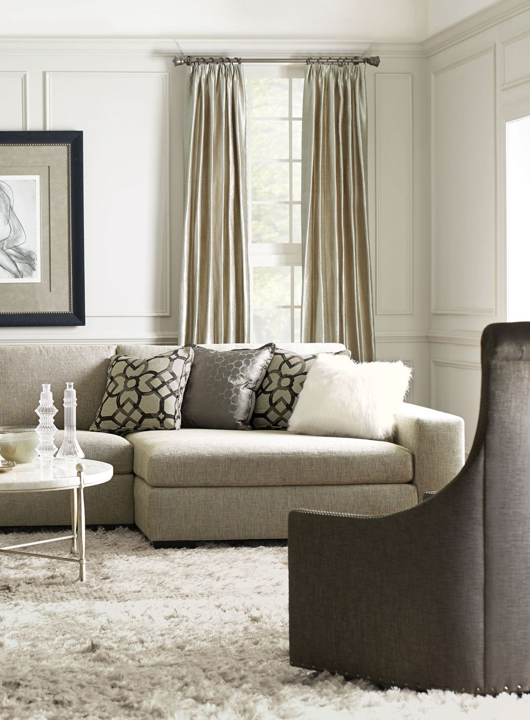 Bernhardt | Orlando Sectional Sofa, Maurice Swivel Chair, Clarion ...