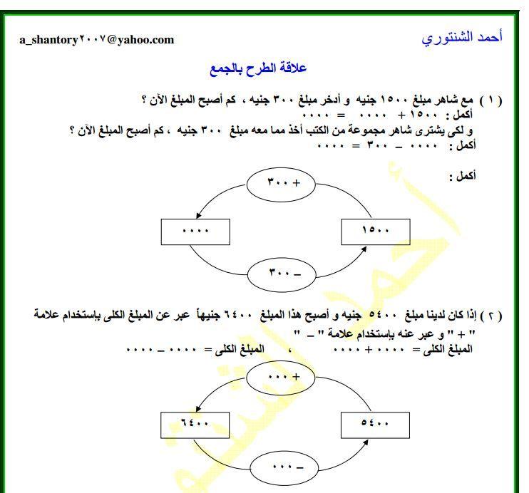 مذكرة رياضيات للصف الثالث الابتدائى الترم الاول Words Word Search Puzzle Map