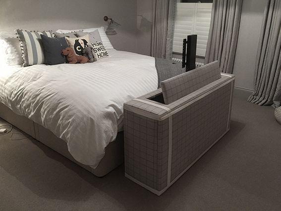 Upholstered Tv Lift Cabinet Tv Lift Cabinet Master Bedrooms