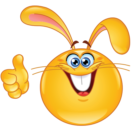 rabbit smiley smiley rabbit and smileys rh pinterest com Bunny Outline Clip Art Bunny Face Painting Clip Art