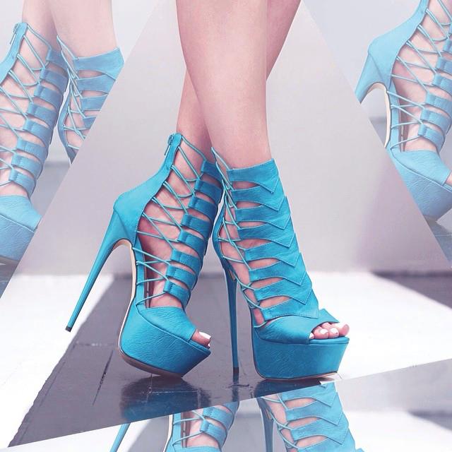 Zapatos De Tacon Alto Abiertos