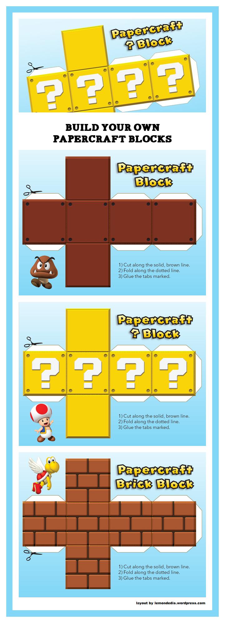 Pin By Benedicte Lambert On Super Mario Bros Paper Toys Paper Crafts Super Mario Bros