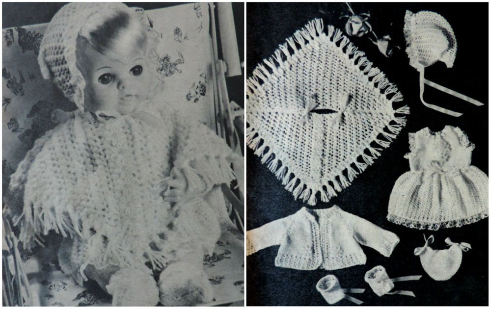 """boots /& matiness coat in DK KNITTING Pattern-Baby Cape-Bonnet fits 18/"""" chest"""