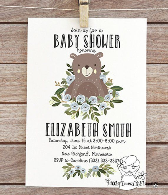 942ff251120 forest invite woodland baby shower invitation woodland themed bear baby  shower printable invitation