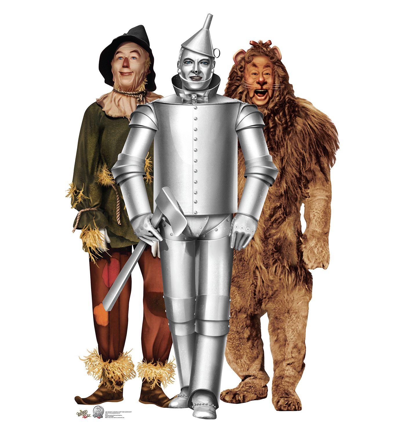 Tin Man, Cowardly Lion and Scarecrow - Wizard of Oz | Tin man ...