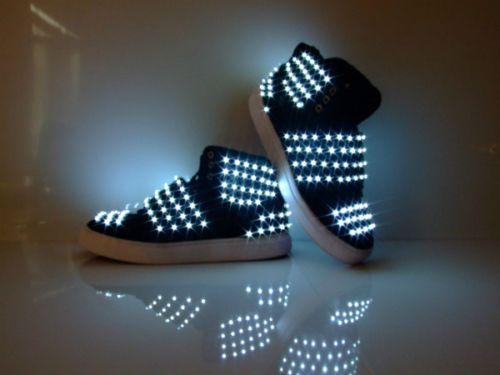 details zu neu led herren schuhe dance shoes tanz melbourne shuffle light up skateboard men. Black Bedroom Furniture Sets. Home Design Ideas