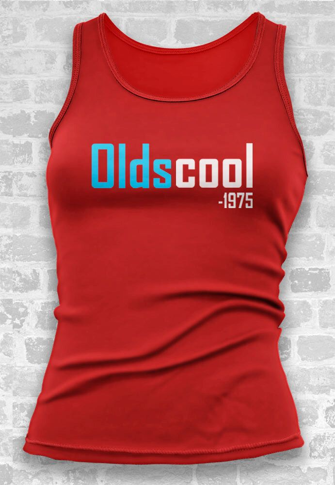 40th Birthday Gift Oldscool 1975 Tshirt Tank Personalized For Women