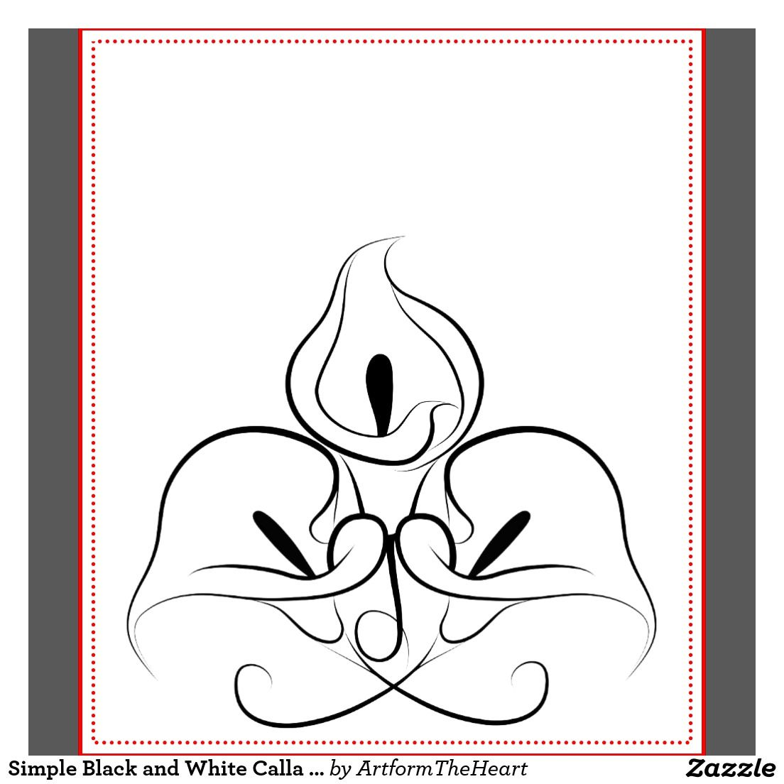Calla Lily Outline Galleryhip Com The Hippest Galleries Calla Lily Tattoos Lilies Drawing Flower Drawing