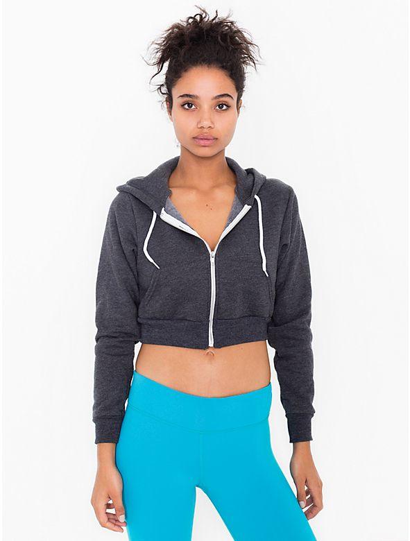 Cropped Flex Fleece Zip Hoodie Wardrobe Essentials Pinterest
