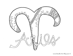 Moon in Aries The Moon in Aries Color, Coloring pages