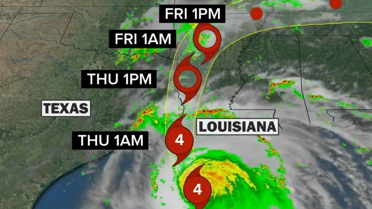Hurricane Laura A Category 4 Storm To Make Landfall Near Texas Louisiana Border Youtube In 2020 Louisiana Texas Coast Storm