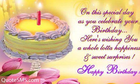 Happy Birthday Cake Pictures Happy Birthday Quotes And Wishes - Birthday cake wishes quotes