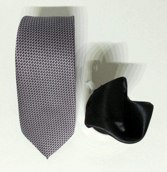 Gray Necktie, Gray Men's Tie, Gray Cravat, Gray Tie - CF015 #handmadeatamazon #nazodesign