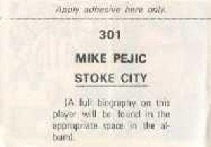 Soccer Stars '76' '77 Back of Stamp Example