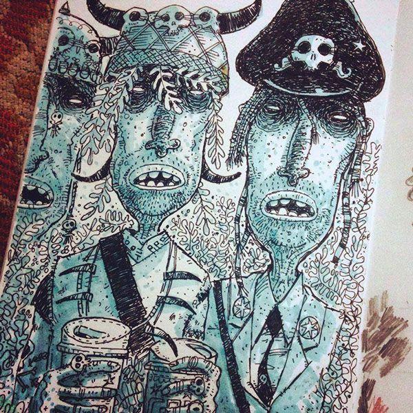 O inspirador sketchbook de Steve Simpson - Ter um sketchbook de estimação é quase uma obrigação para qualquer ilustrador. Como no caso do irlandês Steve Simpsons, que faz incríveis ilustrações em seu sketchbook. Confira.