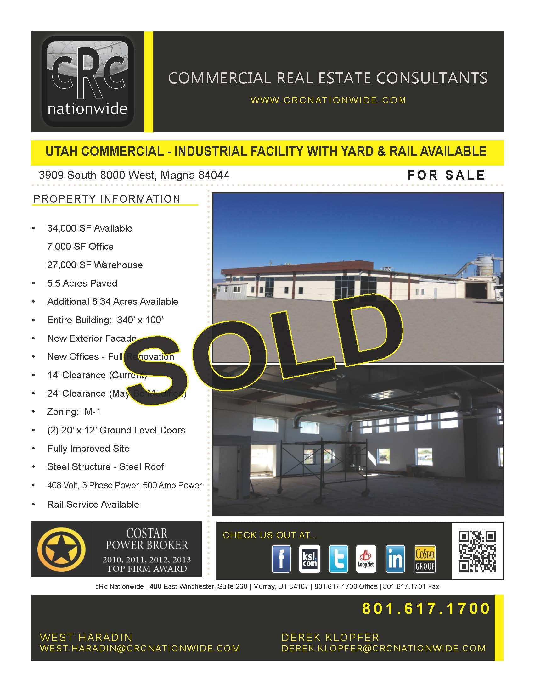 Sold Commercial Real Estate Facility Paving