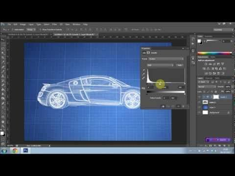 How to create a blueprint effect in photoshop cs6 youtube how to create a blueprint effect in photoshop cs6 youtube malvernweather Gallery
